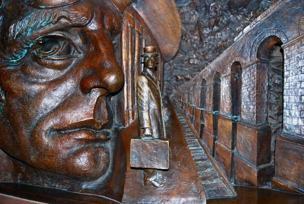 Bronze frieze by KrazyKA