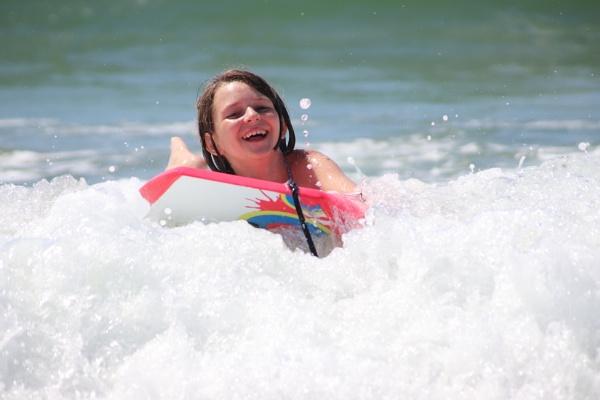 Phoebe Bodyboarding