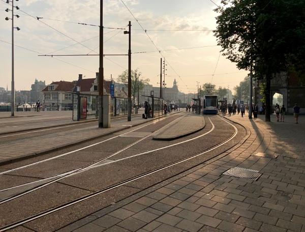 Tram stop Amsterdam by Guzzi