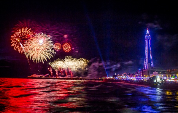Firework at blackpool by elainecll