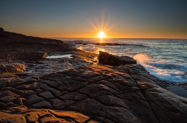 Sun Up at Short Point, Merimbula, New South Wales by BobinAus