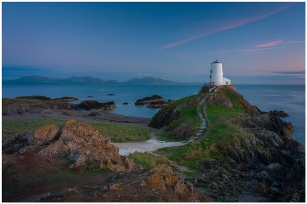 Llanddwyn Lighthouse. by Satlight