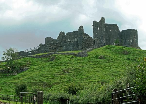 Carreg Cennen Castle Brecon Beacons by Janetdinah
