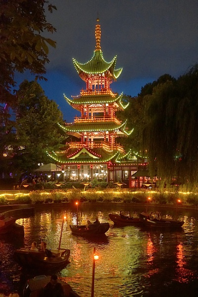 Pagoda in Tivoli Gardens Copenhagen by StevenBest