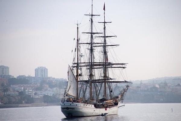 "The bark \""Europa\"" anchored in Cascais Bay by HarrietH"
