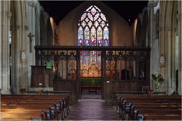 Lavenham Church Interior by johnriley1uk