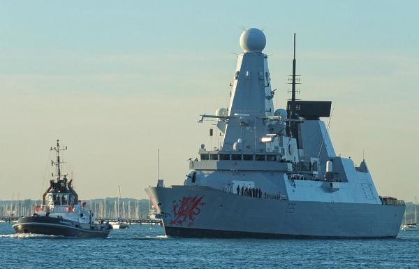 HMS Dragon. by Mollycat