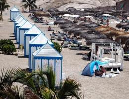 Photo : Beach Huts in a Row