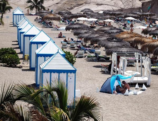 Beach Huts in a Row