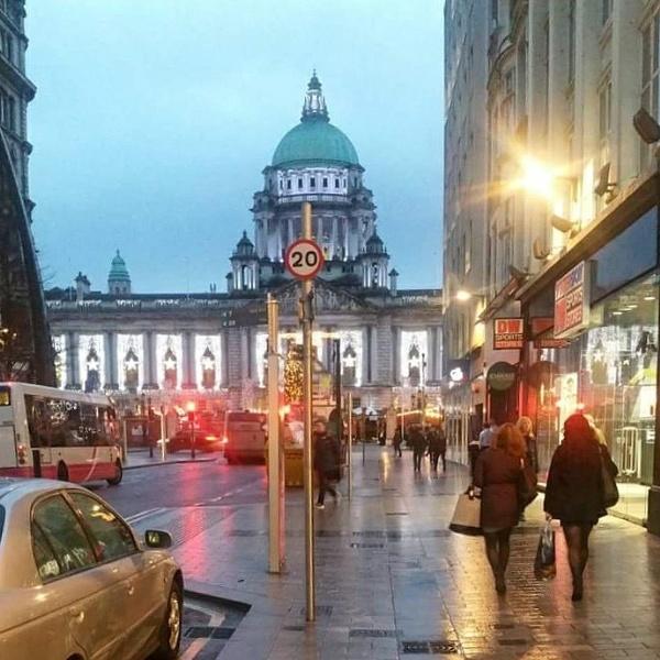 Rainy morning in Belfast