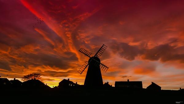 Whitburn Windmill at Dusk