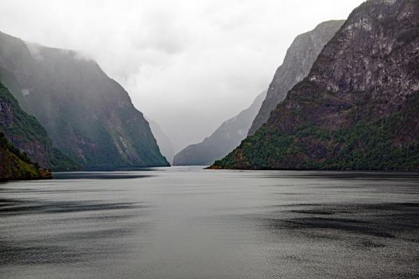 Norwegian Fjord Entrance by voyger1010