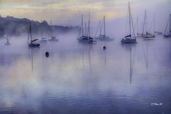 Misty Morning at Fell Foot Marina by RPilon63