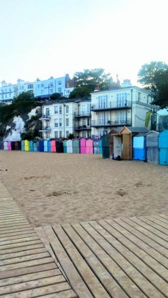 Beach Huts Broadstairs by Legsandco70