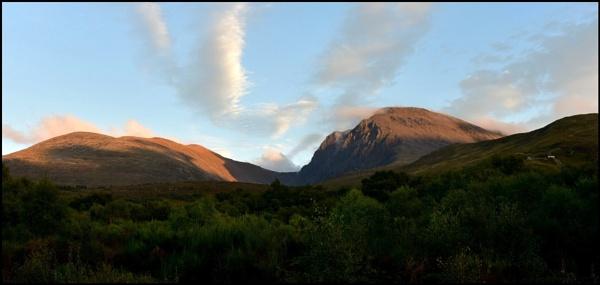 Scottish mountain sunset by djh698