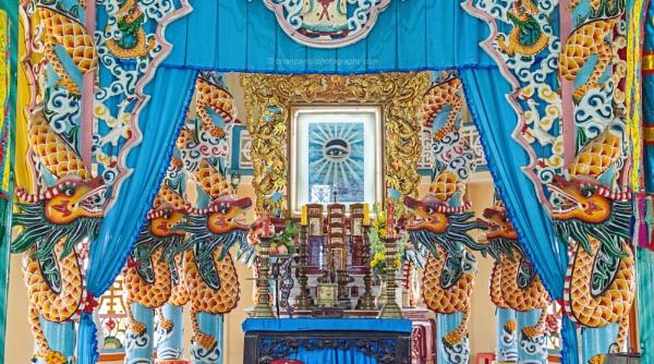"""Cao Dai \""""Holy See\"""" Temple, Long Hua, Tay Ninh, Vietnam by brian17302"""