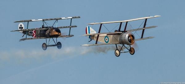 Sopwith Triplane & Fokker Triplane by brian17302