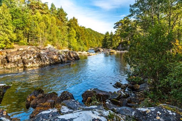 Scottish river scene by Ingymon