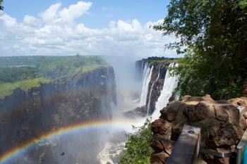 Double rainbow at Victoria Falls 2