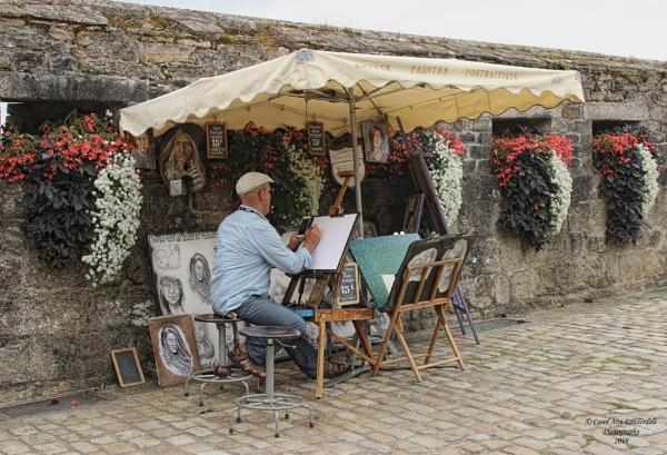 Street Artist - Ville Close, Concarneau, France by canoncarol
