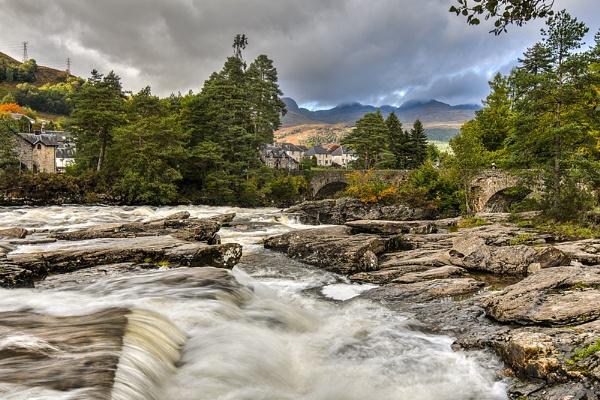 Falls of Dochart by AndrewAlbert