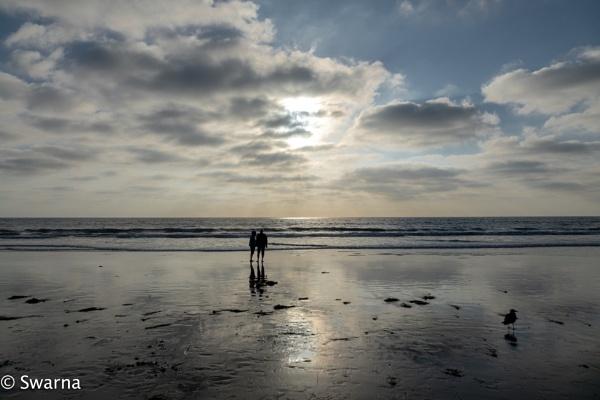Sunset at Solana Beach, CA III by Swarnadip