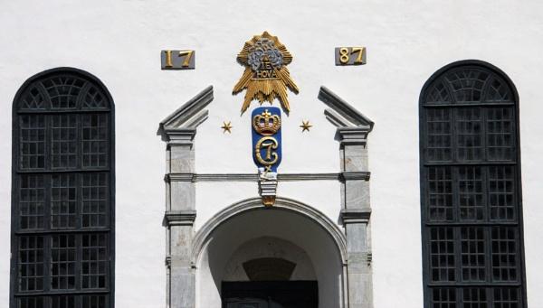 Decals Over Door of Sor-Fron  Kirke Norway by RobMacormac