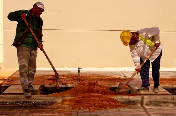men at work: Back-filling by Savvas511