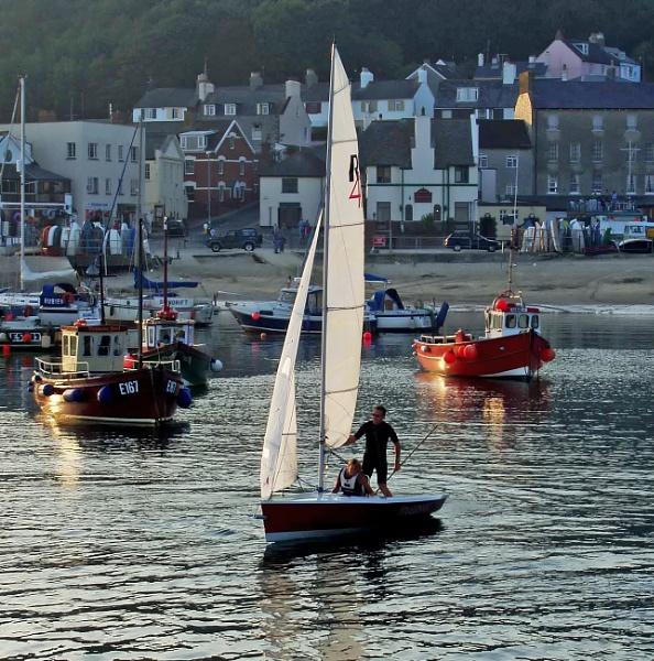 Lyme Regis Harbour in Evening Sun by starckimages