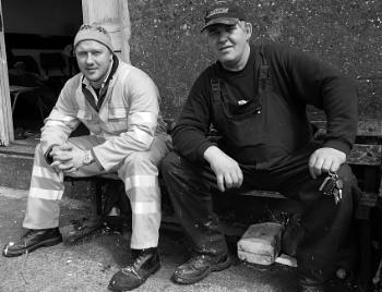 Harbour Workers At Newlyn