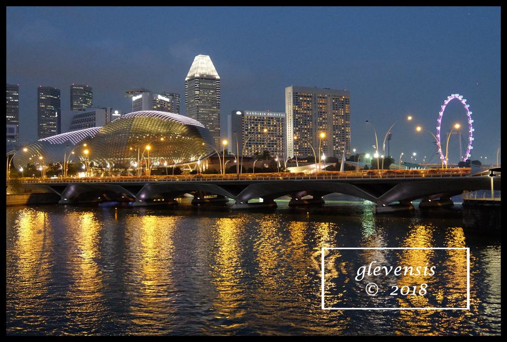 Singapore Waterfront, Twilight.