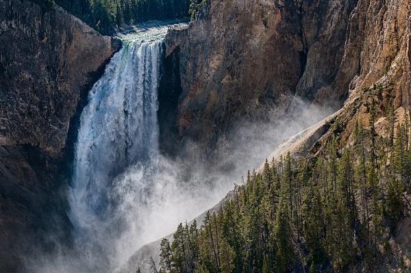 Lower Yellowstone River Falls by Zydeco_Joe