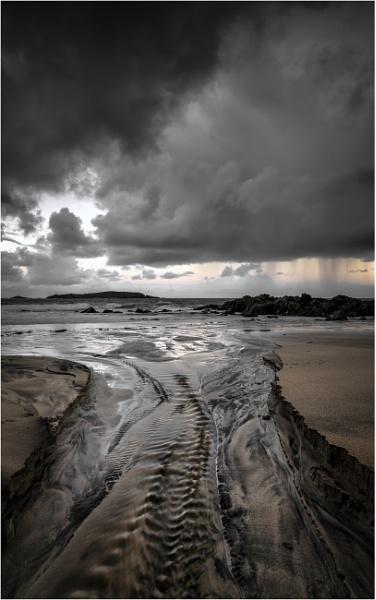Storm over Mealista Sands by PaulMillar