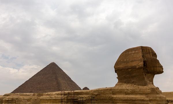 Pyramids and Sphinx in Giza by rninov