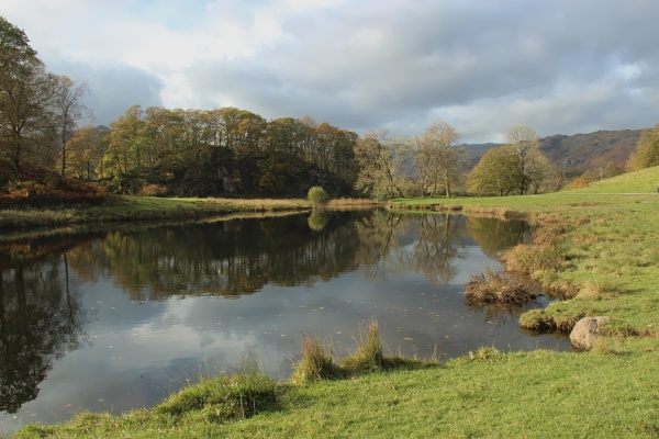 Reflections on the River Brathay, Elterwater by canoncarol