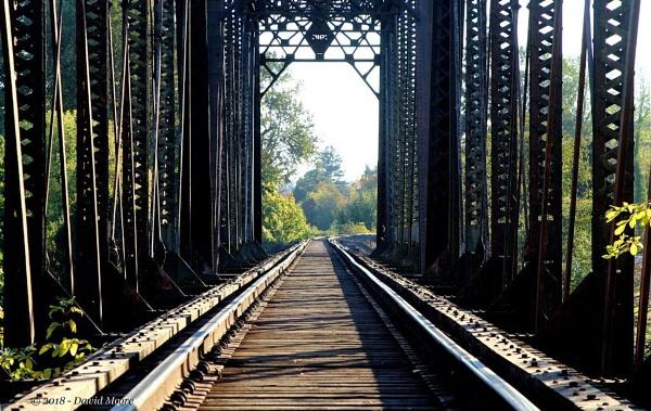 1910 Rairoad Double Trestle Bridge by youcantoo