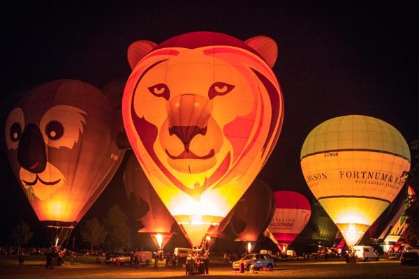 Nighttime Balloons by MaxFocusPhoto