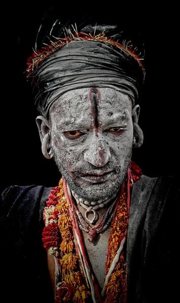 Aghori sadhu in Haridwar by sawsengee