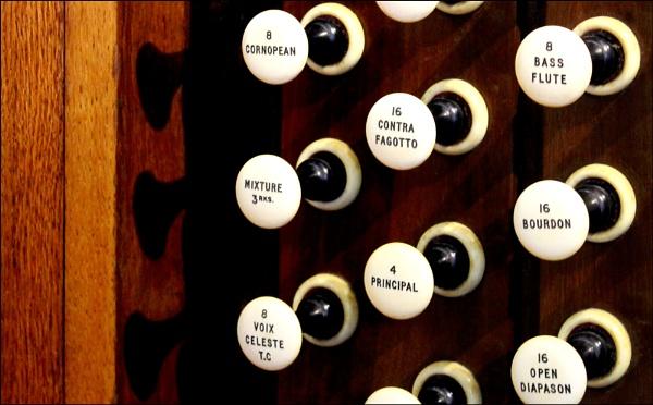 Organ stops and shadows by helenlinda