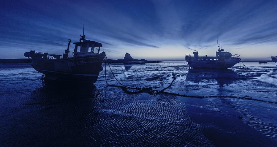 Lindisfarne, Blue hour