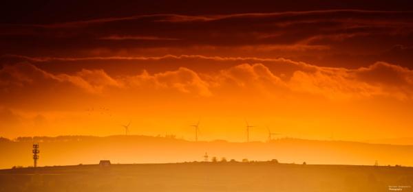 Sunset & Turbines by NDODS