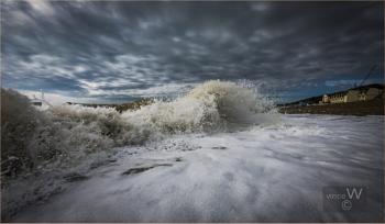 Big Waves At Sandgate Beach.