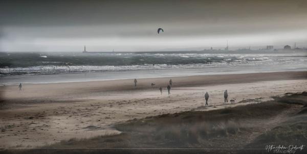 A Windy Whitburn Beach by NDODS
