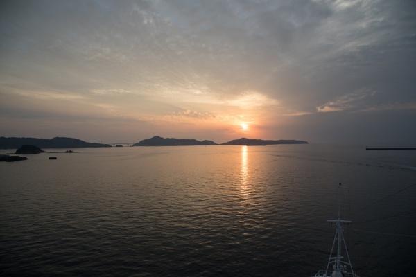 Sunset over Nagasaki Harbour by Trekmaster01