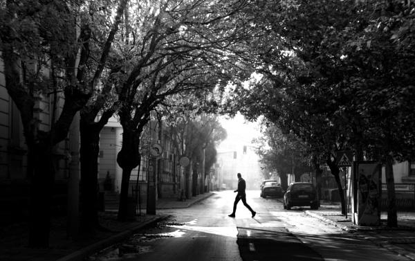 Black and White Street by MileJanjic