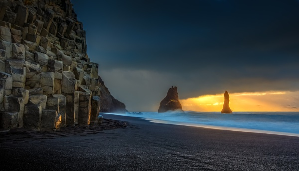 Reynisdrangar Seastacks by Legend147