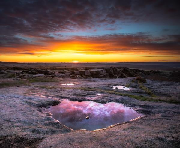 Curbar Dawn Reflection by Legend147