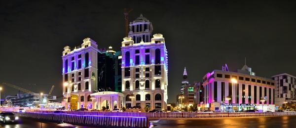 Panorama Big city night 3 by Savvas511