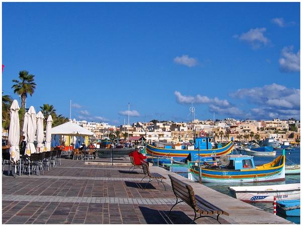 "\"" Marsaxlokk Malta \"" by badgerwil70"