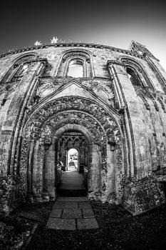 Glastonbury Abbey in infrared
